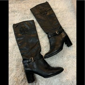 Tory Burch Blaire Mid-Heel Riding Boots
